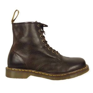 Dark Brown Leather Dr Martens 11822 Combat Boot 12